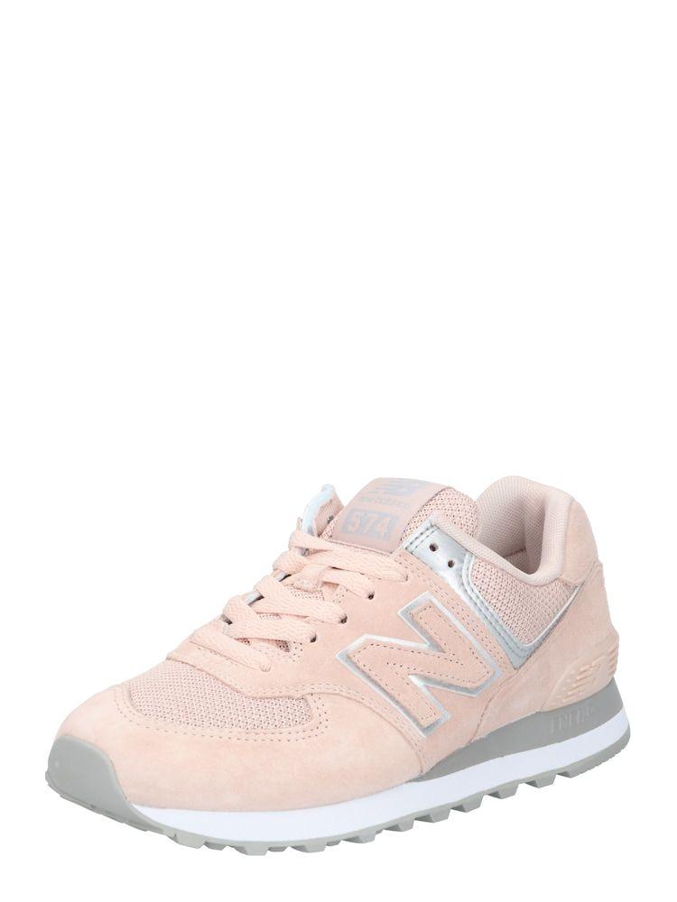 New Balance Sneaker 'WL574 B' Herren, Silber / Rosé ...