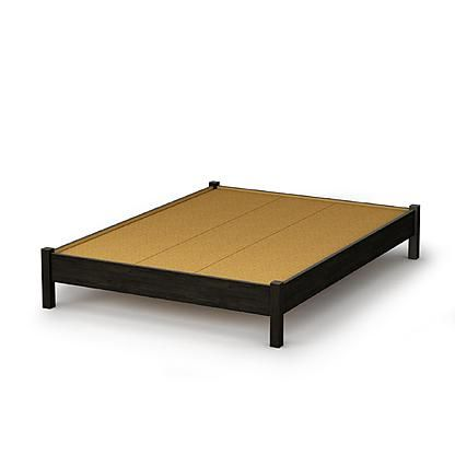 South Shore Classic Platform Bed Collection Full 54-inch bed Ebony