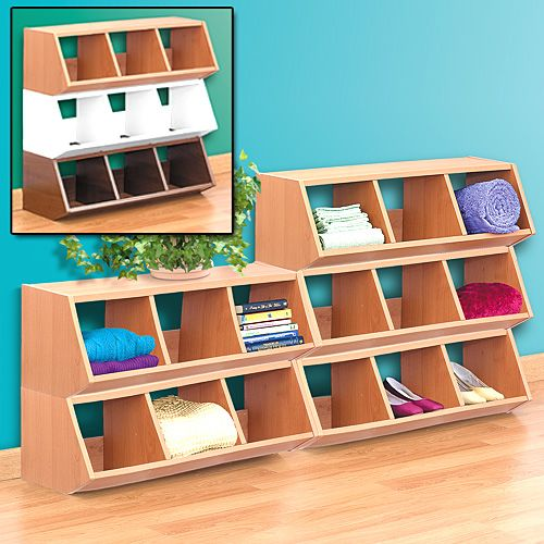 High Quality Forget About Cheap Plastic Storage Bins And Opt For These Stackable Storage  Bins That Come In Three Different Colors Of Laminated Wood.