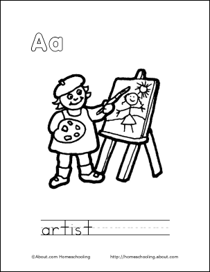 Print Out This Coloring Book About The Letter A For Your Child Abc Coloring Pages Alphabet Coloring Pages Alphabet Book