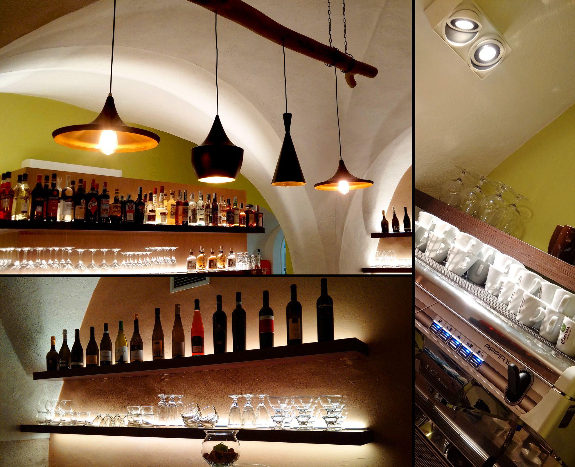 Pizzera Mediterranea Meran Klosterpassage Lifestyle Hangelampen Beleuchtung Sospensione Lampen Decor
