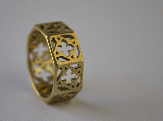 Gothic Window Ring - Size 7 3d printed