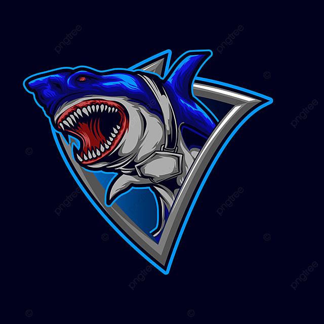 Pin On Sharks Gaming Logo Mascot