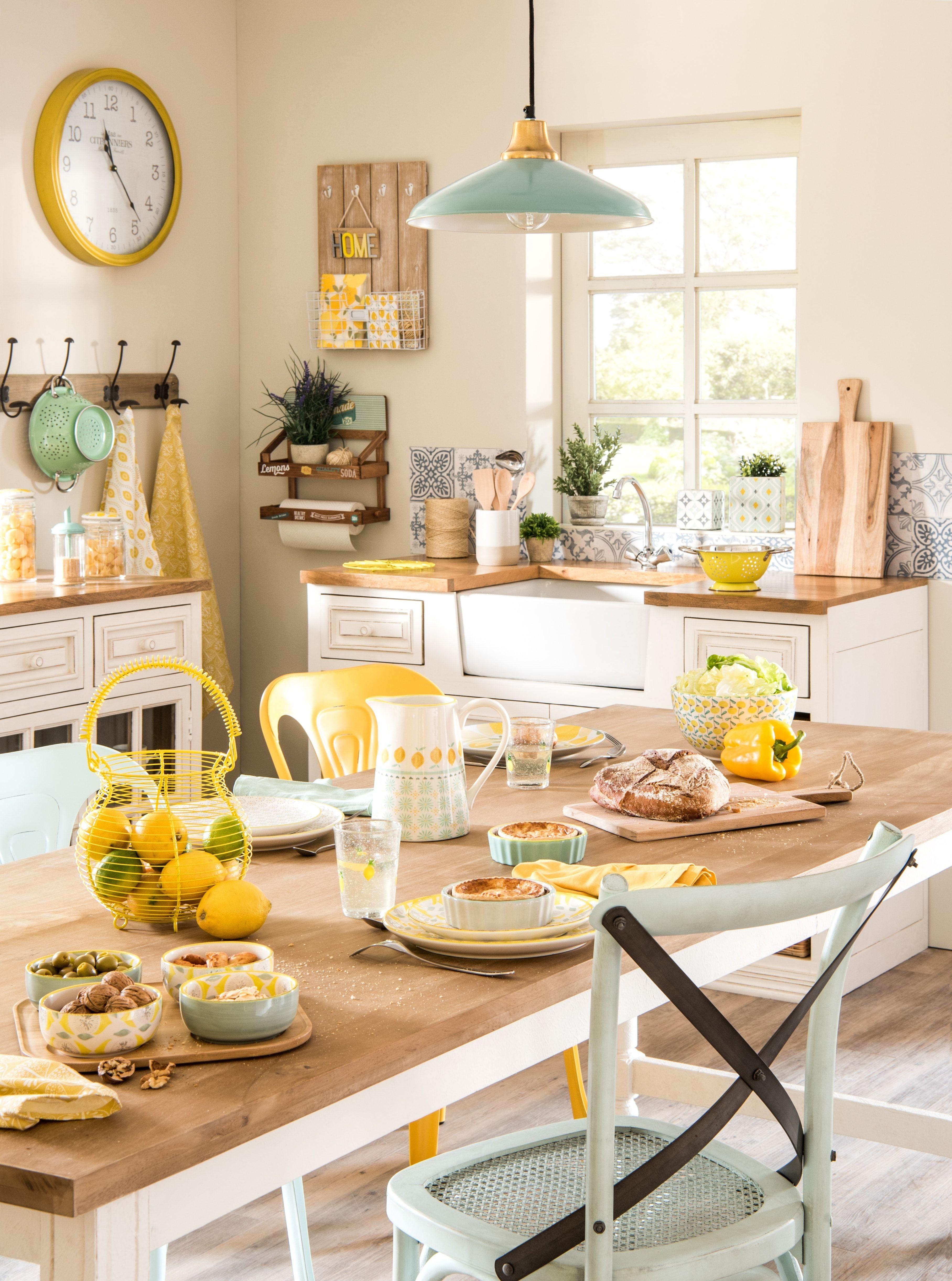 Ambiance Mint & Lemon de Maisons du Monde  Meuble bas cuisine