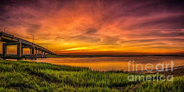 Sunset in Sea Isle City New Jersey