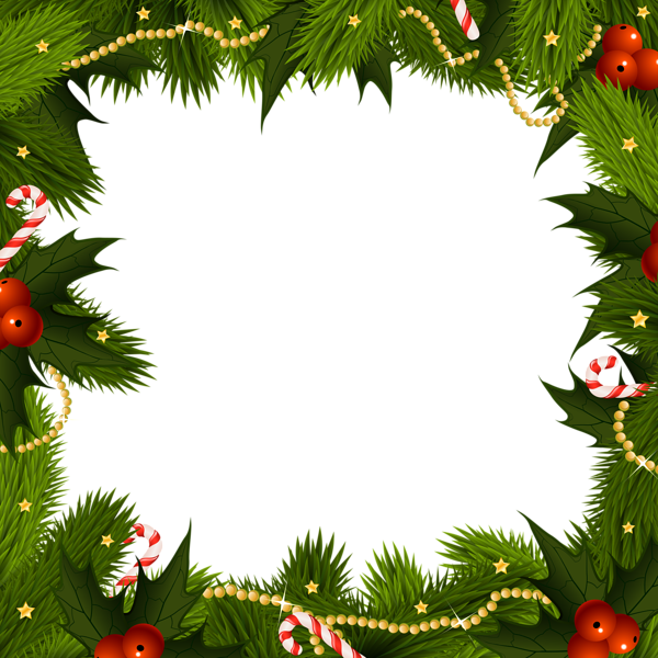 Transparent Christmas Border PNG Frame Free christmas