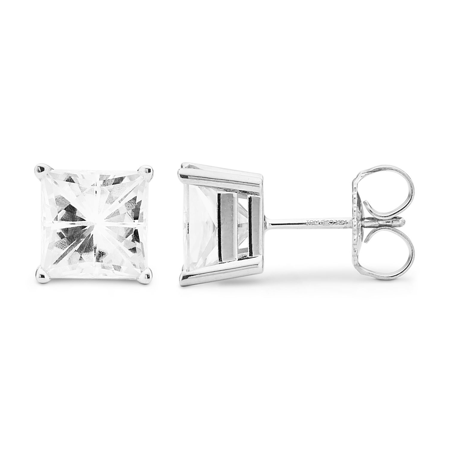 stud earring prongs f rings forever products earrings brilliant moissanite