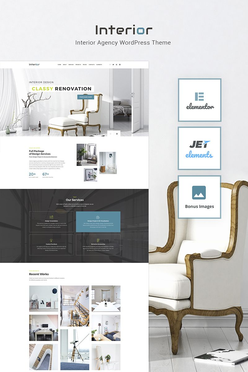 Interior Interior Design Company Responsive WordPress