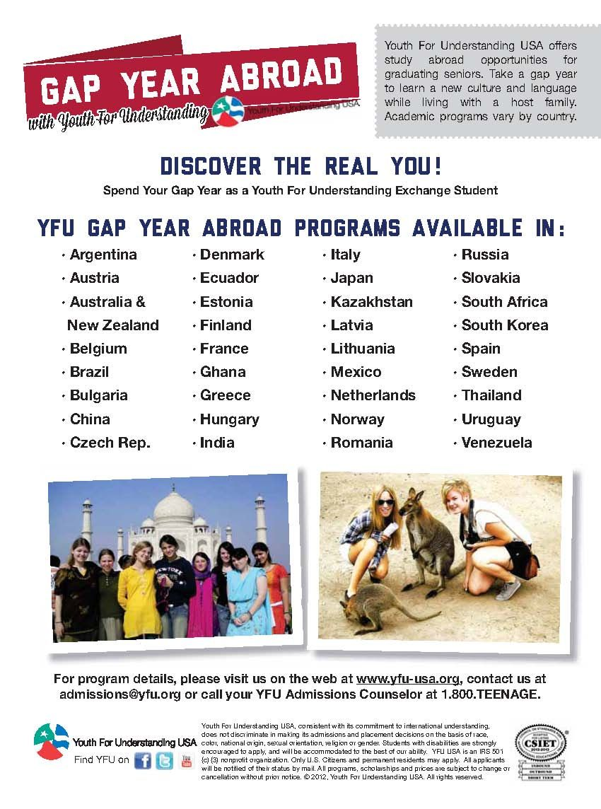 Youth For Understanding Usa Countries Gap Year Academic Programs Cultural Exchange