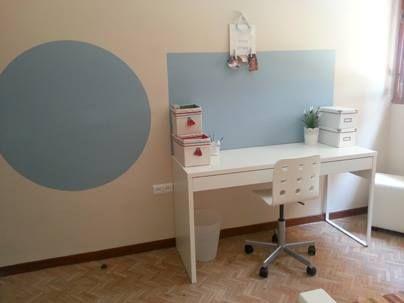 Habitación infantil con pintura de pizarra Azul Elefante cuarto ...