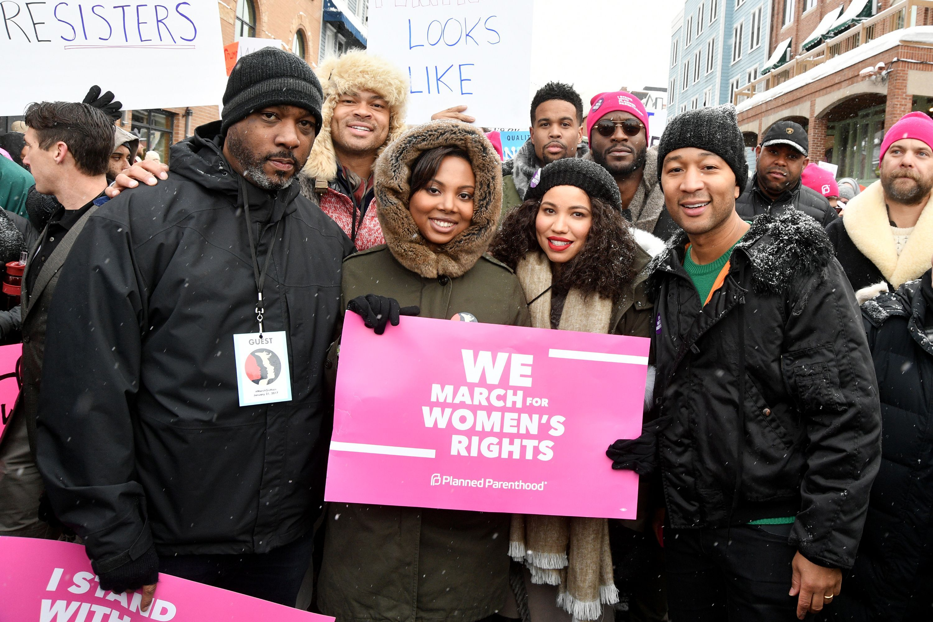 The Best Celebrity Pics From The Women S March Womens March Womens March 2017 John Legend