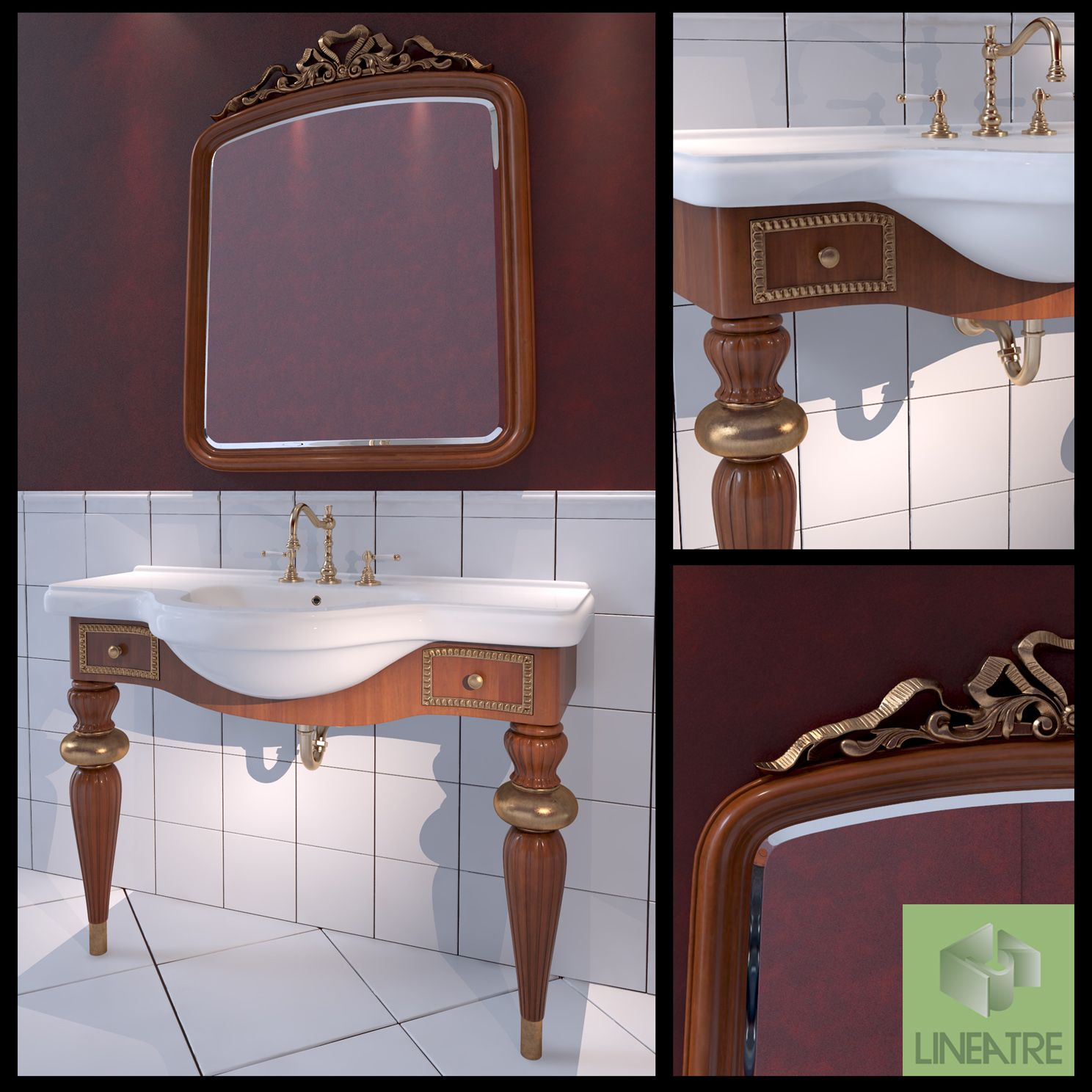 Washbasin LineaTre Londra #Washbasin, #LineaTre, #Londra