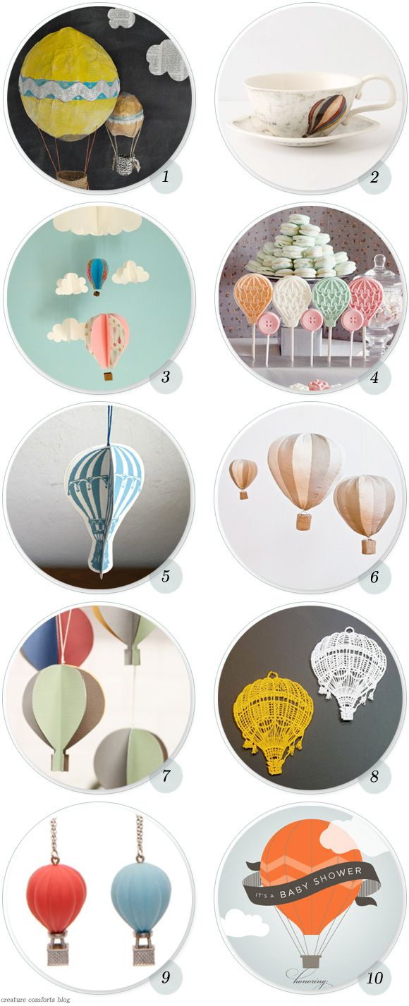 Having a Moment: Hot Air Balloons - Home - Creature Comforts - daily inspiration, style, diy projects + freebies