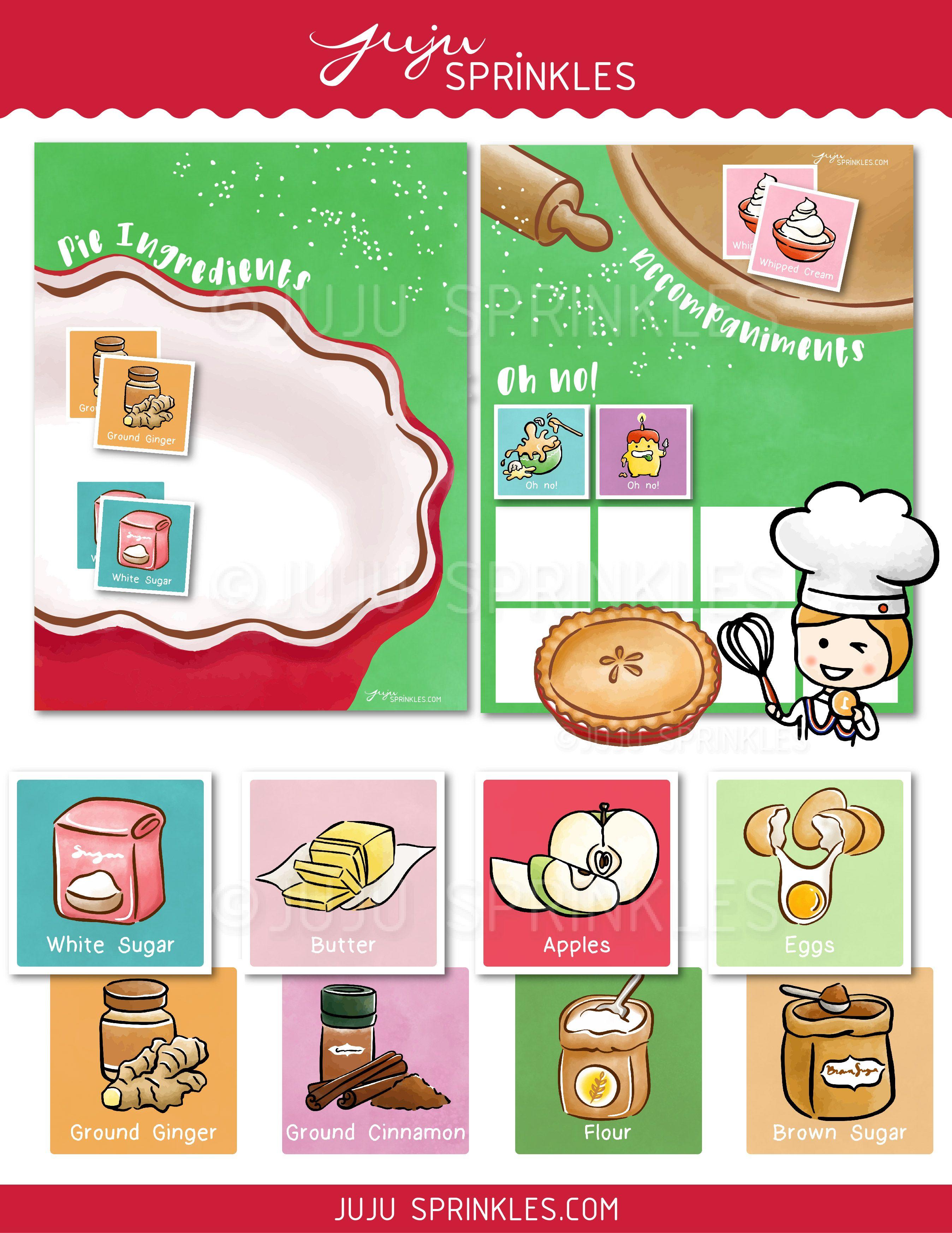 Printable Baking Memory Game