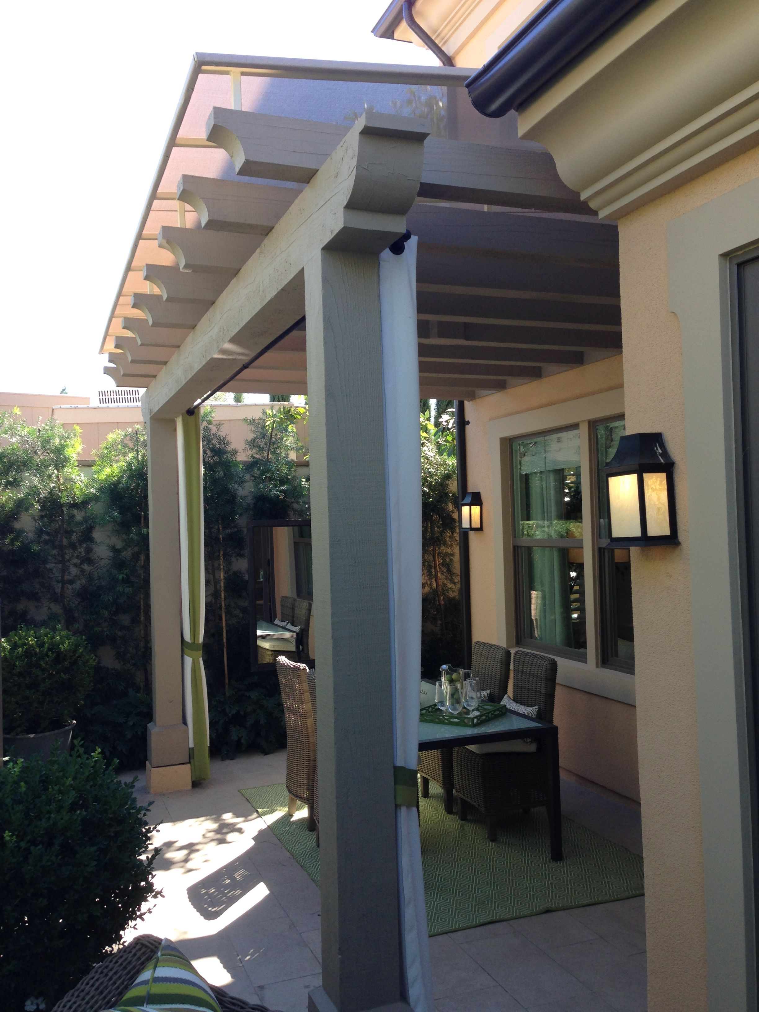 Sloped Trellis Awning Cover Installed In Irvine