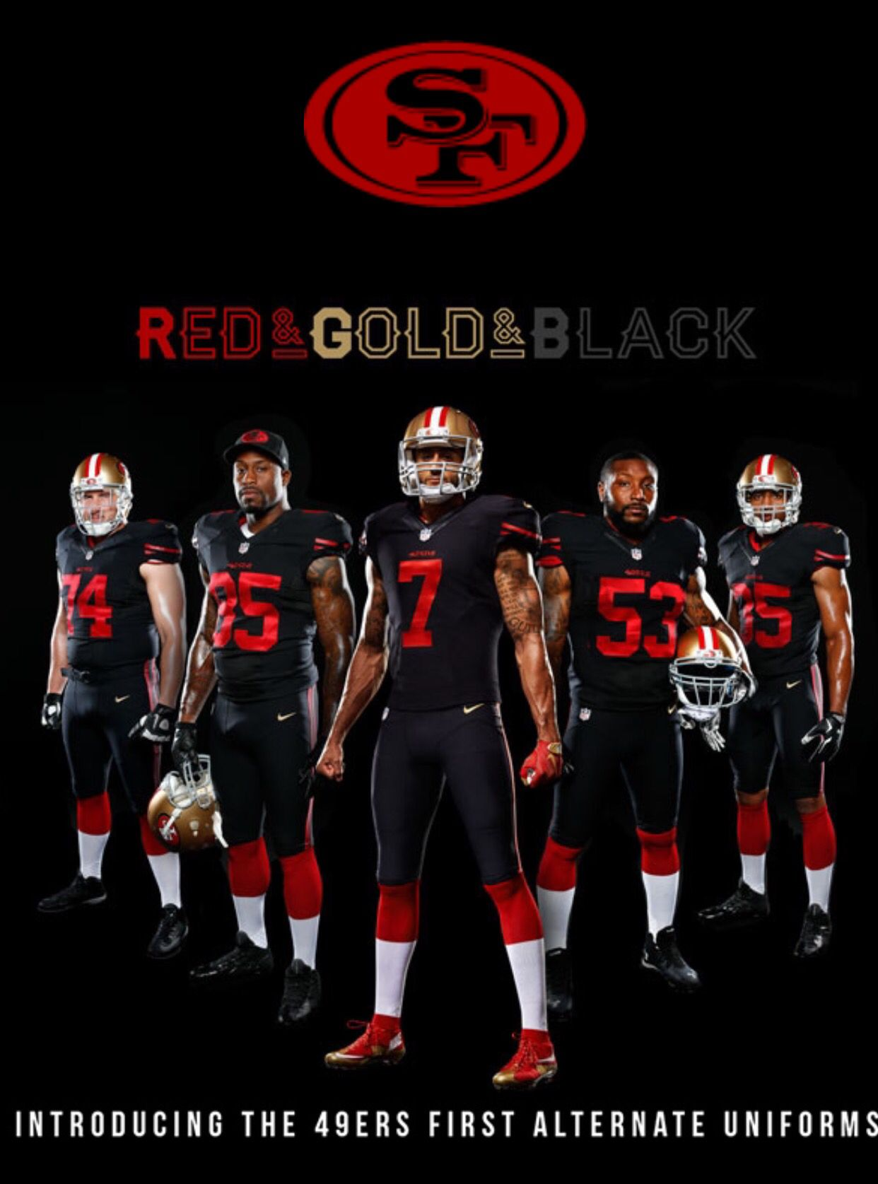 49ers New Alternate Uniforms - 2015  2065b3d94