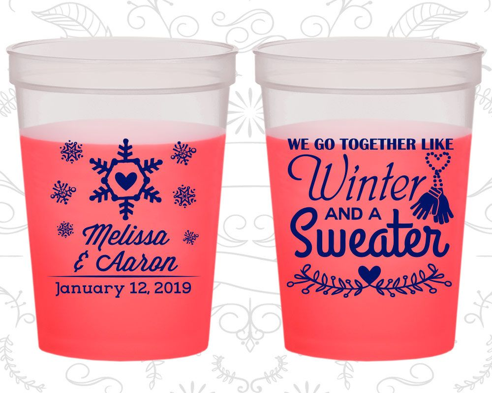We Go to Together Like Winter and a Sweater, Wedding Favor Party ...