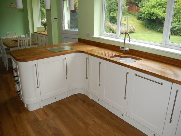 Image Result For White Kitchen Diner With Wooden Worktops