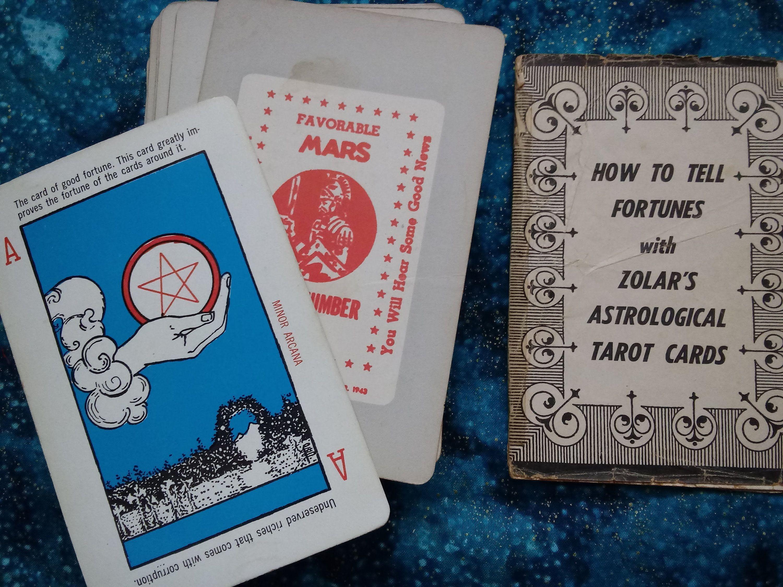 Vintage Tarot Cards, Vintage Tarot Deck, Fortunes