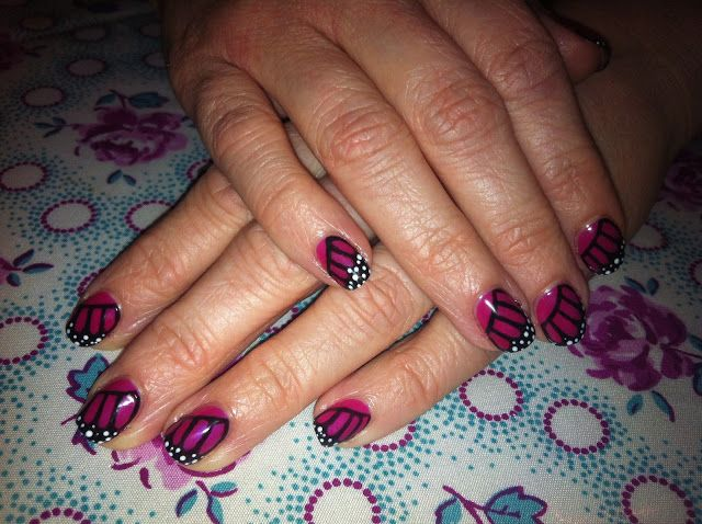 Brush Up And Polish Up Cnd Shellac Nail Art Monarch Butterfly In