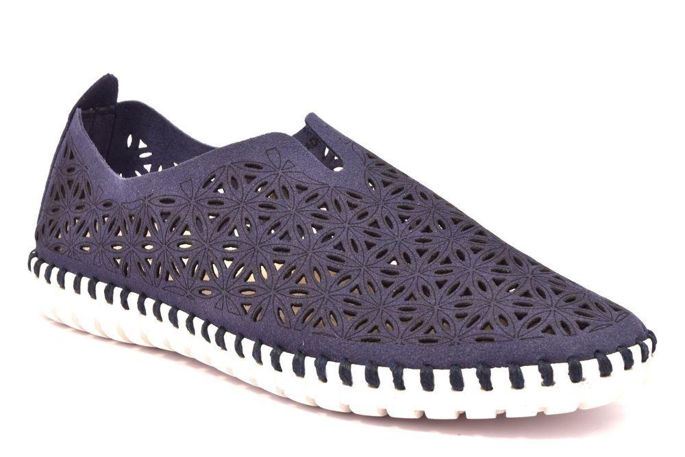 Sneakers Blu Scarpa Sc3749 Traforata Grunland F6 Pelle Magi Slipon Tcl1FKJ