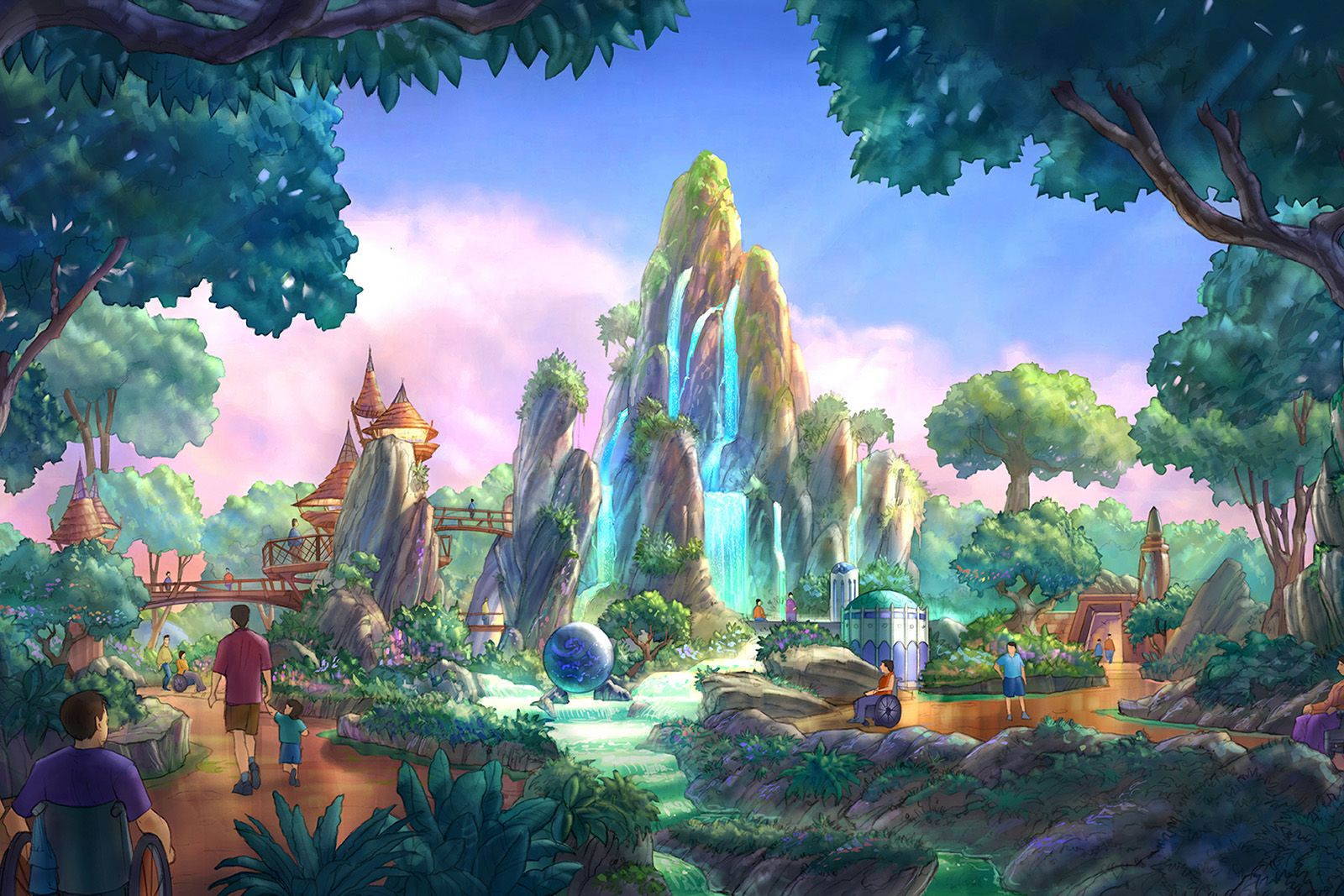 Wushia Disney Concept Art Theme Park Planning Disney Theme Parks