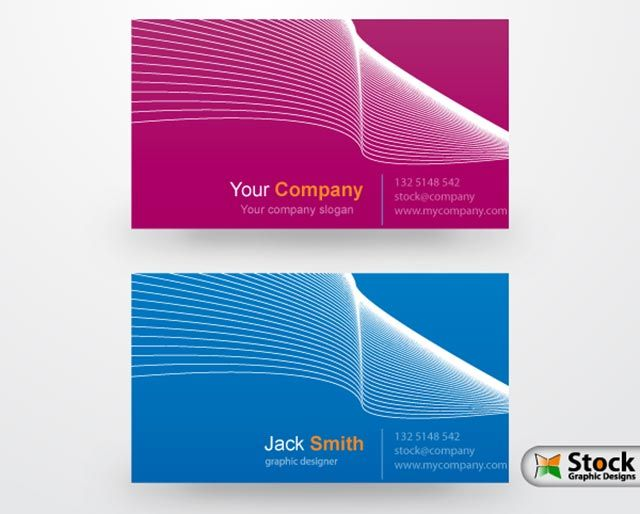 Elegant wavy business cards free vector design by elegant wavy business cards free vector design by stockgraphicdesigns available for download as eps file colourmoves
