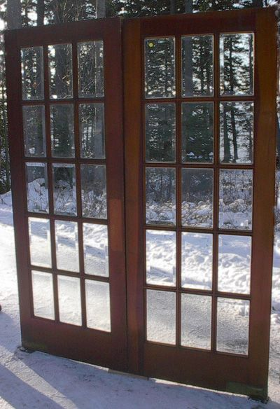 Pair Of Beveled Gl P Through Type French Doors 64 X 80 Overall 995 00 Pr