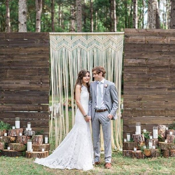 15 Macrame Wedding Backdrop Ideas