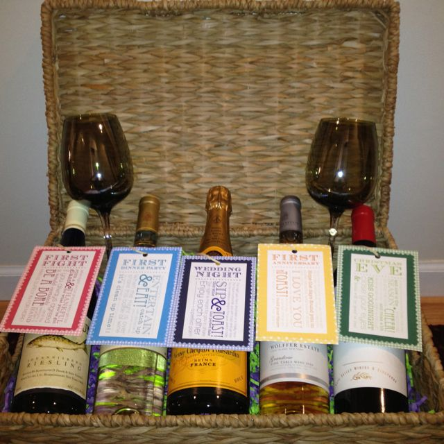 Gift Basket For Bride And Groom Wedding Night: Engagement / Bridal Shower Gift