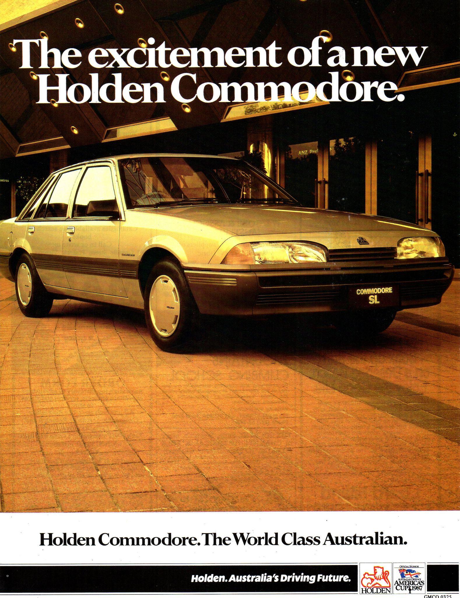 1987 Vl Holden Commodore Sl Aussie Original Magazine Advertisement