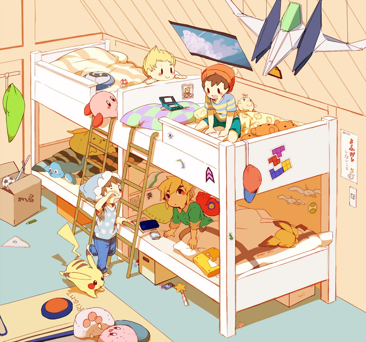 Pokemon Bedroom Wallpaper Cute Nintendo Mashup Art Zelda Pokemon Earthbound Kirby Ice