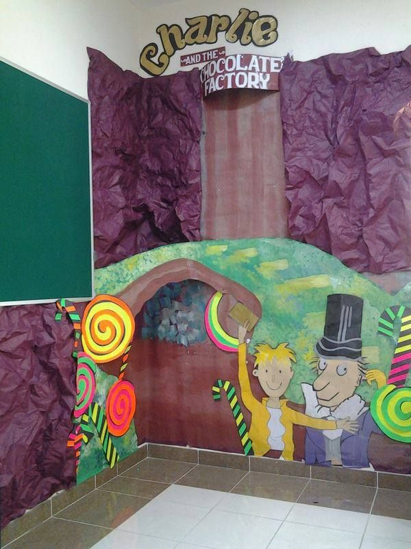Halloween Door Decoration Ideas Classroom ~ Charlie and the chocolate factory classroom decor
