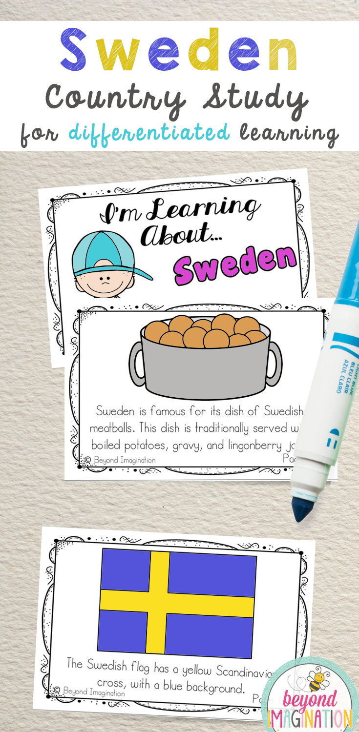 Sweden Booklet Country Study Project Unit Country Study Project Country Studies Kindergarten Special Education