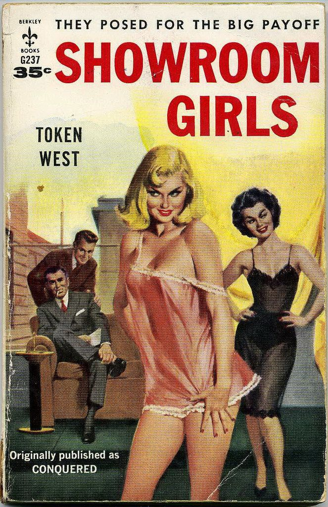 SHOWROOM GIRLS --- by Token West Pulp Fiction Book, Vintage Comics, Vintage