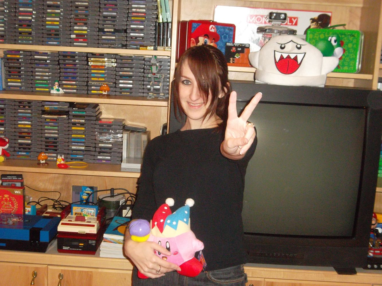 Retro gamer girl awesome collection of retro games here