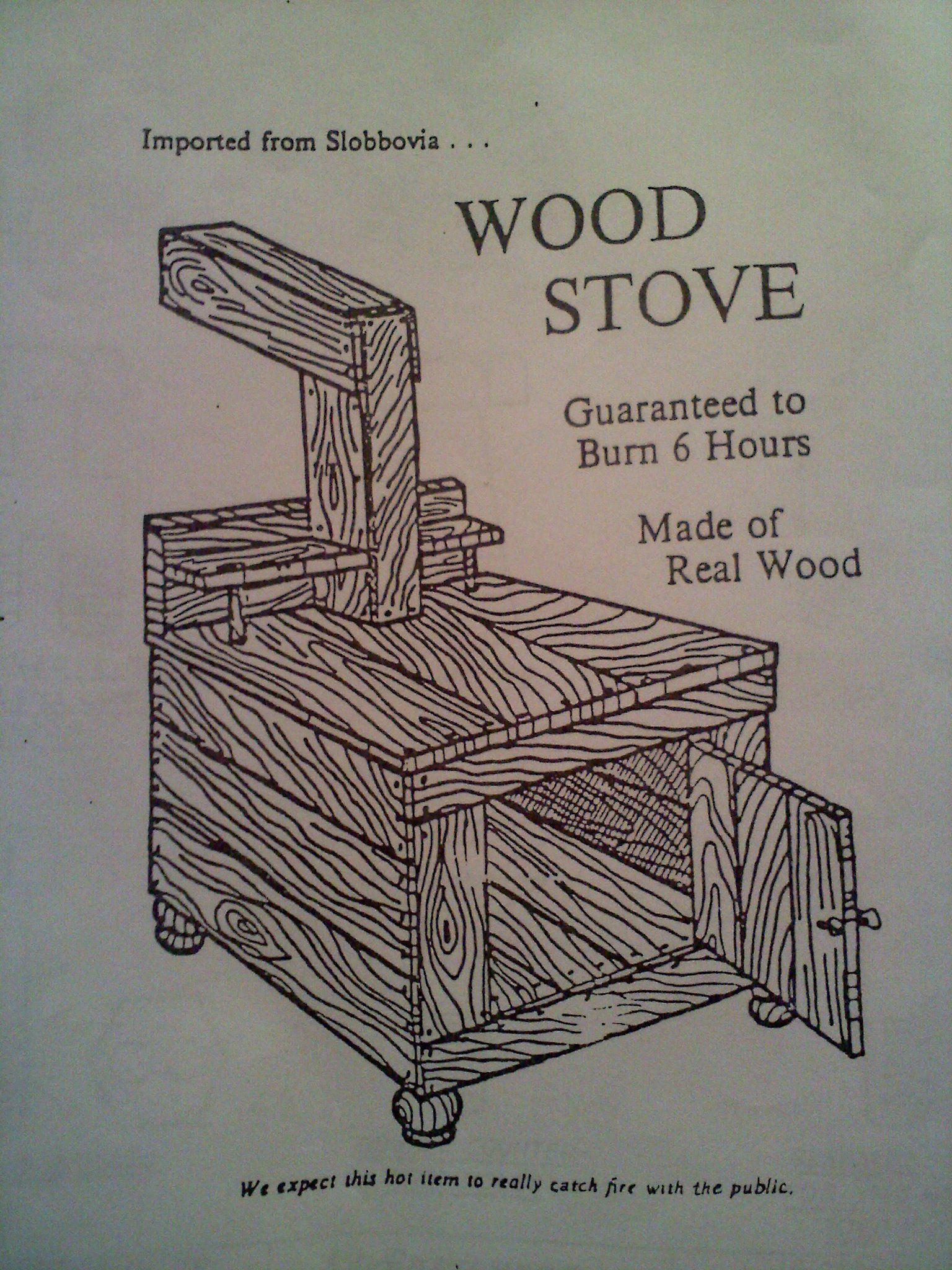 What A Novel Idea A Wood Burning Stove Made Of