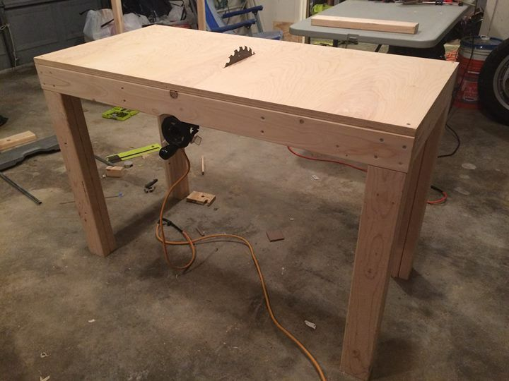 Converted My Crappy Ryobi Table Saw To A Homemade Table Saw Check