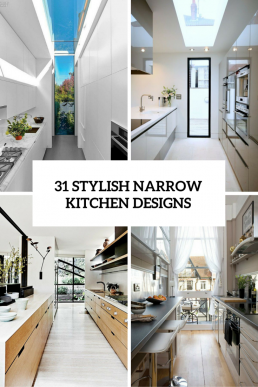 31 Stylish And Functional Super Narrow Kitchen Design Ideas   house ...