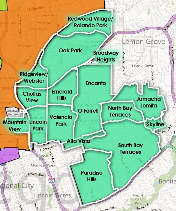 San Diego Map Of Neighborhoods.Pin By May On San Diego Local Neighborhood Finds Pinterest