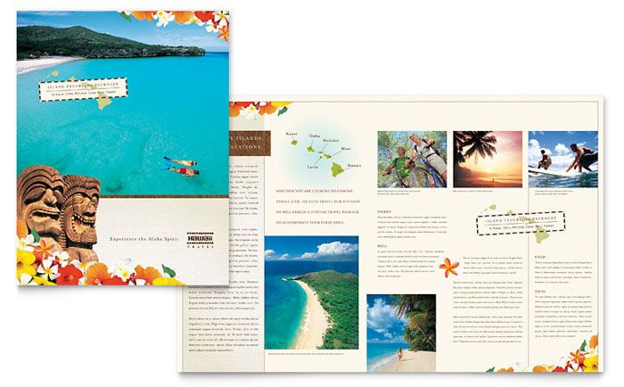 Hawaii Travel Vacation Brochure Template Design By Stocklayouts