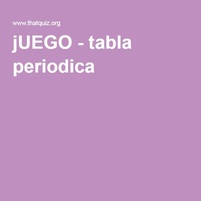 Juego tabla periodica catedra pinterest tabla juego y ciencia juego tabla periodica urtaz Images