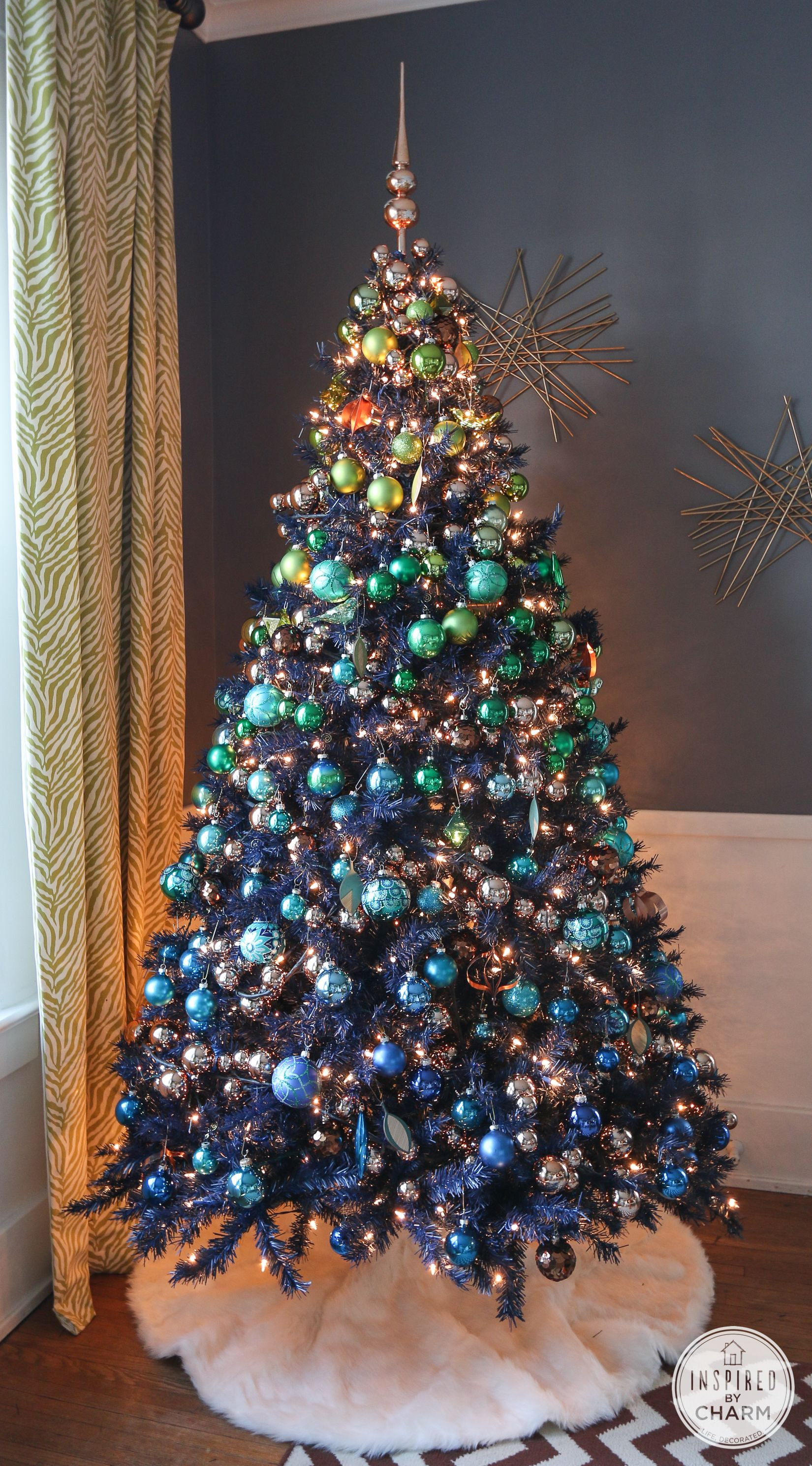 A Blue Christmas Inspired By Charm Green Christmas Tree