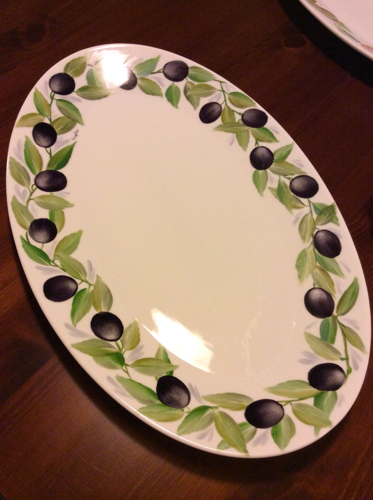 Serving Dish With Olives By Angela Davies Tabak Comlek Meyve