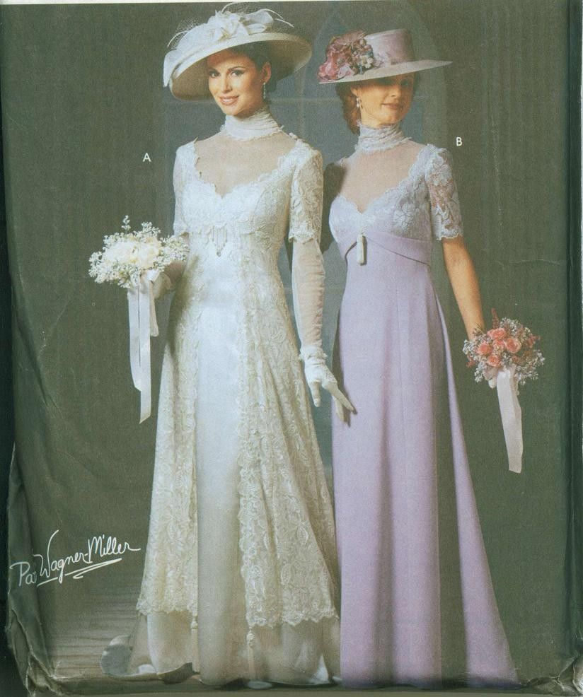simplicity wedding dress patterns OOP HTF Simplicity Titanic Edwardian Gowns Pattern Wedding GORGEOUS