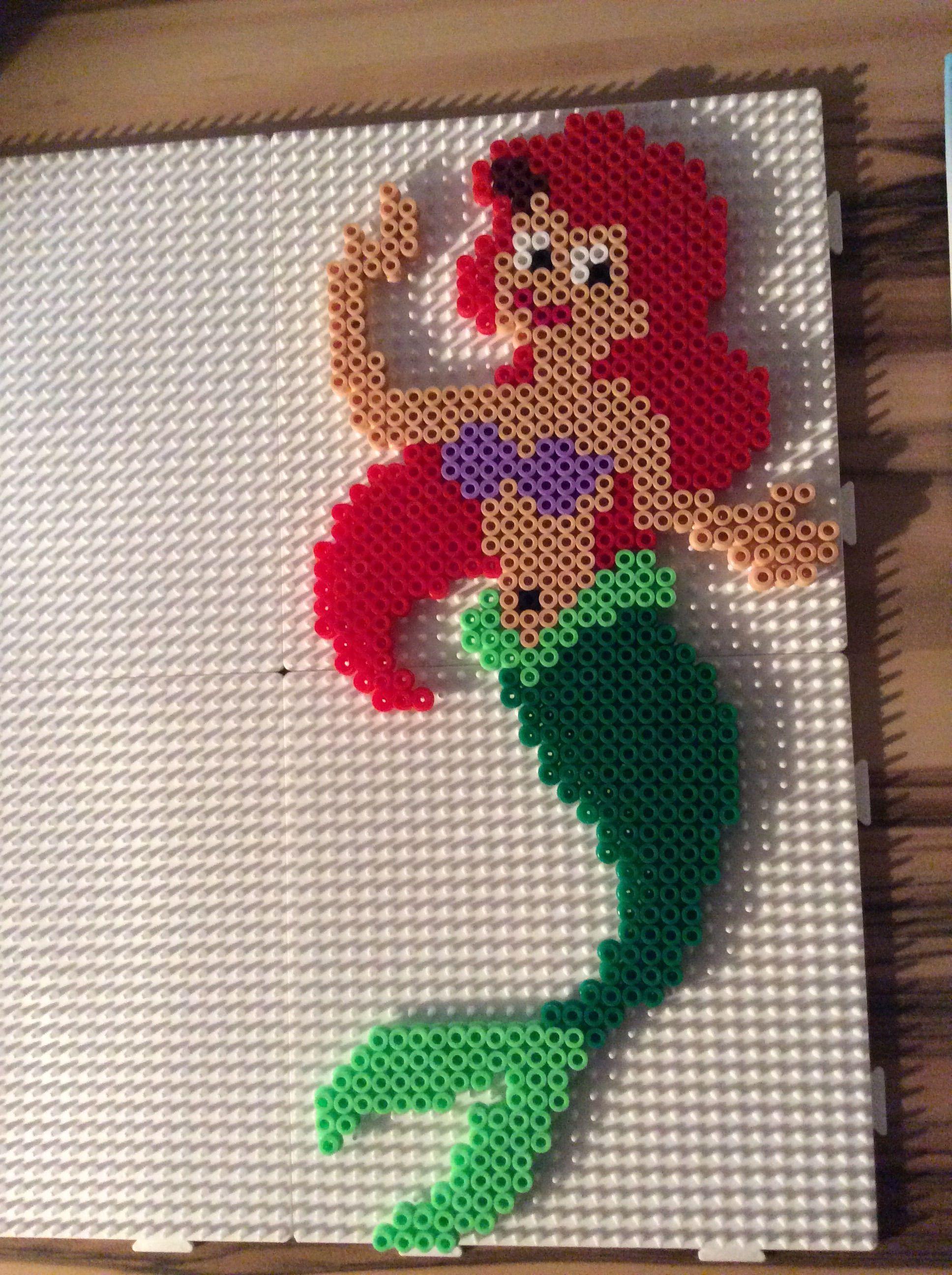 Disney Ariel (The Little Memaid) hama perler beads by ...