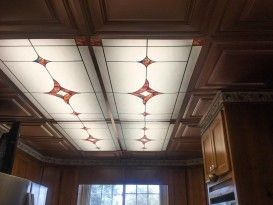 Attirant Stained Glass 6   Centerpiece   Passion Wave   Kitchen Installation   Fluorescent  Light Cover