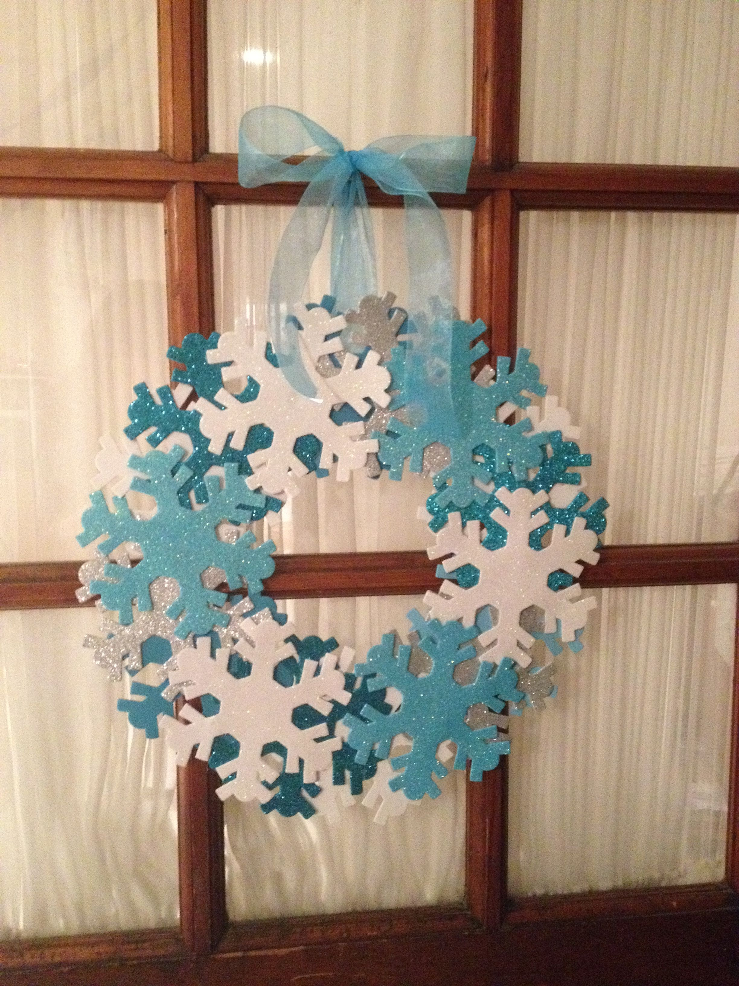 Snowflake Wreath For Classroom