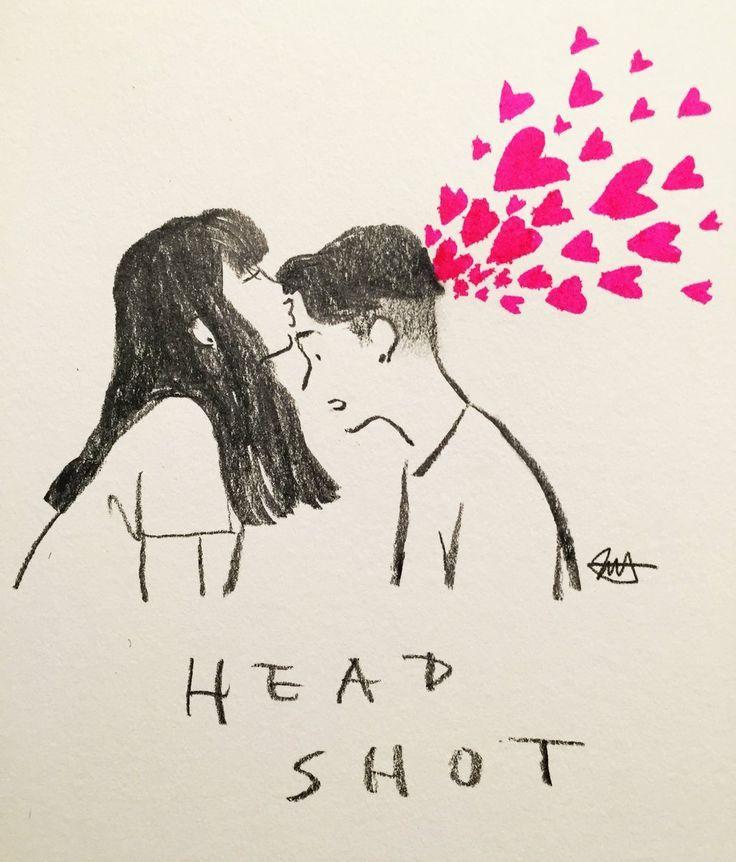 Headshot  | By jessoo Sketch [Art  Drawing  Pencil  Kiss  Love  Couple] #drawings #art