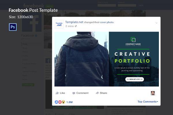 Facebook Ad Template For Creative Portfolio Temp Facebook Ad